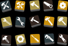 Tools icon set Royalty Free Stock Photos
