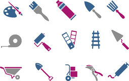 Tools icon set Royalty Free Stock Image