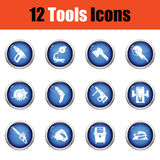 Tools icon set. Royalty Free Stock Photography