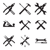 Tools icon set. Icons isolated on white background Royalty Free Stock Photography