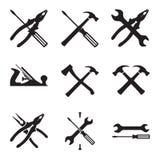 Tools icon set. Icons isolated on white background Royalty Free Stock Photography