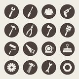 Tools icon set Stock Photos