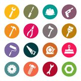 Tools icon set Royalty Free Stock Photography