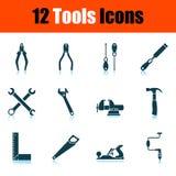 Tools Icon Set. Shadow Reflection Design. Vector Illustration stock illustration