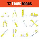 Tools icon set. Thin line design. Vector illustration stock illustration