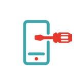Tools icon on smartphone screen vector illustration. Stock Photo