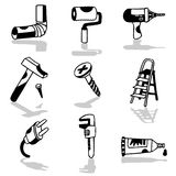 Tools icons 1 Royalty Free Stock Photos