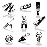 Tools icons 2 Stock Images