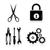Tools icons Royalty Free Stock Photography
