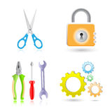 Tools icons Stock Photography