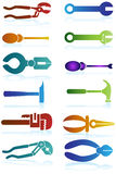 Tools Icons. Set of 12 tools icons stock illustration