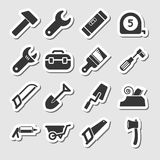 Tools Icons as Labels Stock Photos