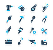 Tools Icons // Azure Series Royalty Free Stock Photography