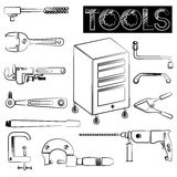 Tools icons Stock Photos