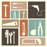 Tools icons Royalty Free Stock Image