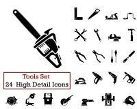 24 Tools Icons Stock Photos