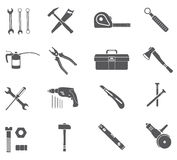 Tools Icons Set Royalty Free Stock Image