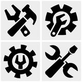 Tools  icons set on gray Stock Images