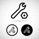 Tools icons set great for any use. Vector EPS10. Royalty Free Stock Images