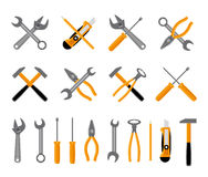 Tools icons set Stock Photography