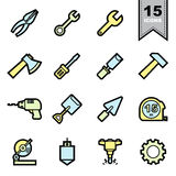 Tools icons set Royalty Free Stock Photography