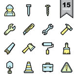 Tools icons set Royalty Free Stock Images