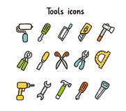 Tools icons Royalty Free Stock Photos