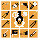 Tools icons set Stock Photos