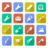Tools Icons With Shadows Royalty Free Stock Photography
