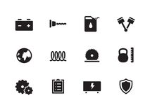 Tools icons on white background. Stock Photos