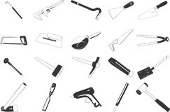 Tools illustrations Stock Images