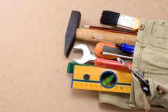 Tools In Bag Royalty Free Stock Images