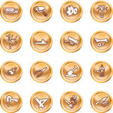 Tools and industry icon set Royalty Free Stock Photo