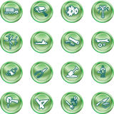 Tools and industry icon set Stock Photography