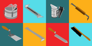 Tools infocraphics Royalty Free Stock Photography