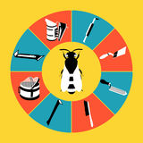 Tools infocraphics-3 Stock Image