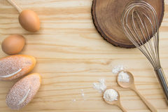 Tools and Ingredients for baking Stock Photos