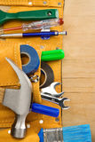 Tools and instruments in leathern belt Royalty Free Stock Photography
