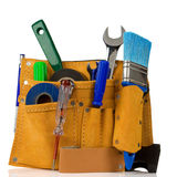 Tools and instruments in leathern belt Stock Photography