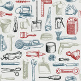 Tools Instruments Seamless Pattern Vector stock illustration