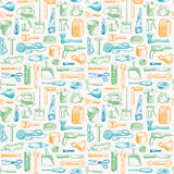 Tools Instruments Seamless Pattern Stock Photos