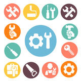Tools isolated icons set Royalty Free Stock Image