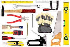 Tools isolated on white royalty free stock photo