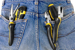 Tools in jeans Stock Images
