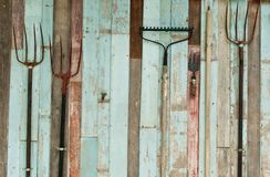 Tools keeping in the farm Stock Image