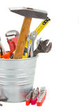 Tools kit  in metal pot Stock Photo