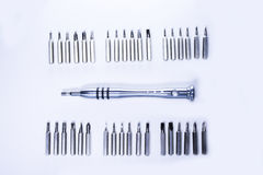 Tool kit. For phone, computer and small appliance repaire Stock Photos