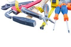 Tools kit on white Stock Image