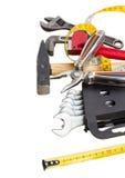 Tools kit on white Stock Photos