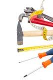 Tools kit on white Royalty Free Stock Photo
